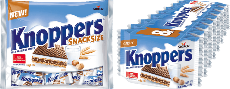 $1.00 for Knoppers Wafer Candy Bar (expiring on Sunday, 01/02/2022). Offer available at Walmart, Walmart Pickup & Delivery.