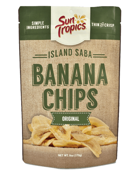 $0.75 for SunTropics Island Saba Banana Chips (expiring on Monday, 12/30/2019). Offer available at multiple stores.