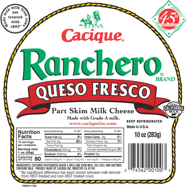 $0.75 for Cacique® (expiring on Tuesday, 04/02/2019). Offer available at Walmart, Kroger, Publix, H-E-B.