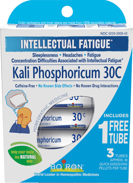 $1.00 for Boiron® Kali Phosphoricum 30C Bonus Care Pack (expiring on Wednesday, 08/31/2022). Offer available at Vitamin Shoppe.