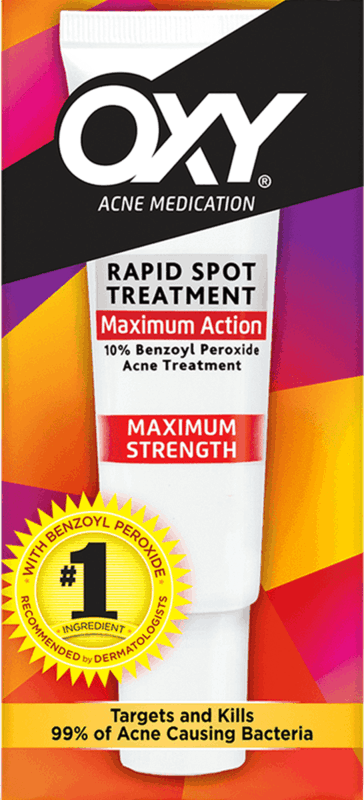 $0.75 for OXY Maximum Strength Rapid Spot Treatment (expiring on Sunday, 03/01/2020). Offer available at multiple stores.