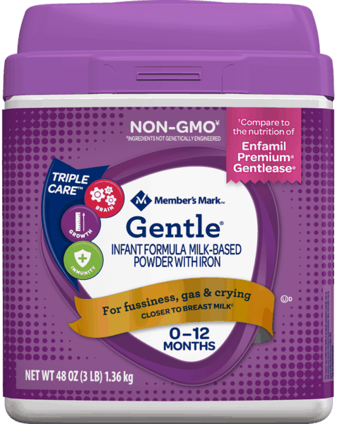 $4.00 for Member's Mark™ Gentle® Formula (expiring on Monday, 12/02/2019). Offer available at Sam's Club.