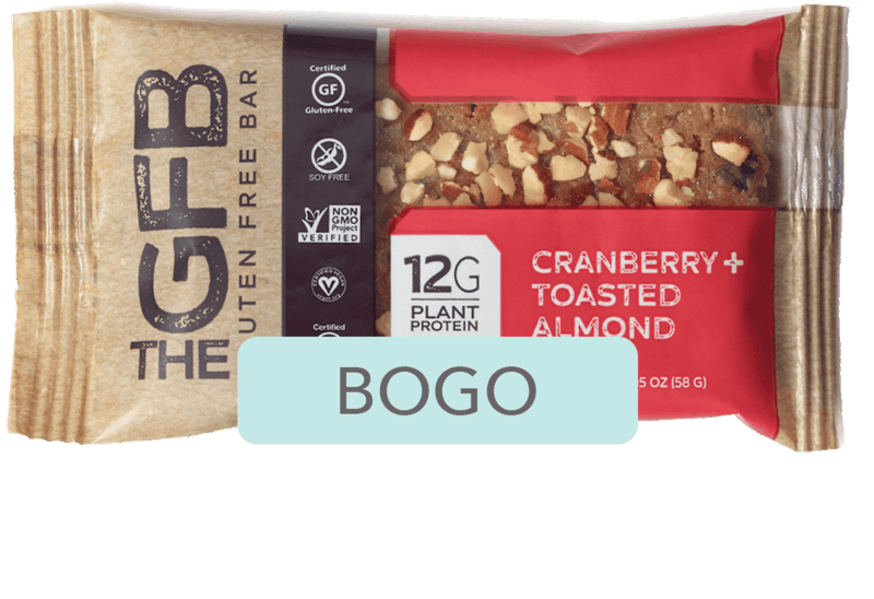 $2.19 for The GFB Gluten Free Bar (expiring on Sunday, 08/02/2020). Offer available at Kroger.