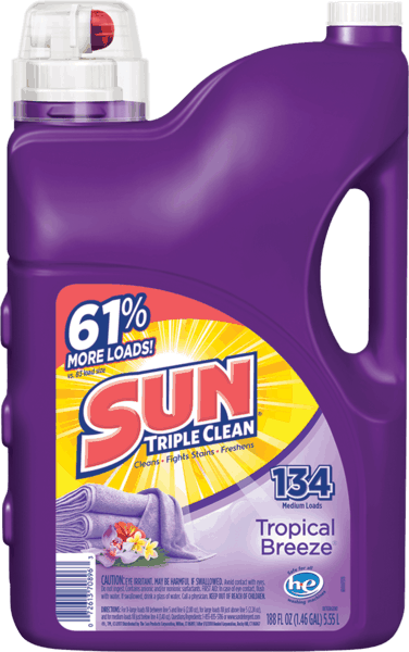 $1.00 for Sun® Triple Clean Detergent (expiring on Friday, 11/02/2018). Offer available at Walmart.