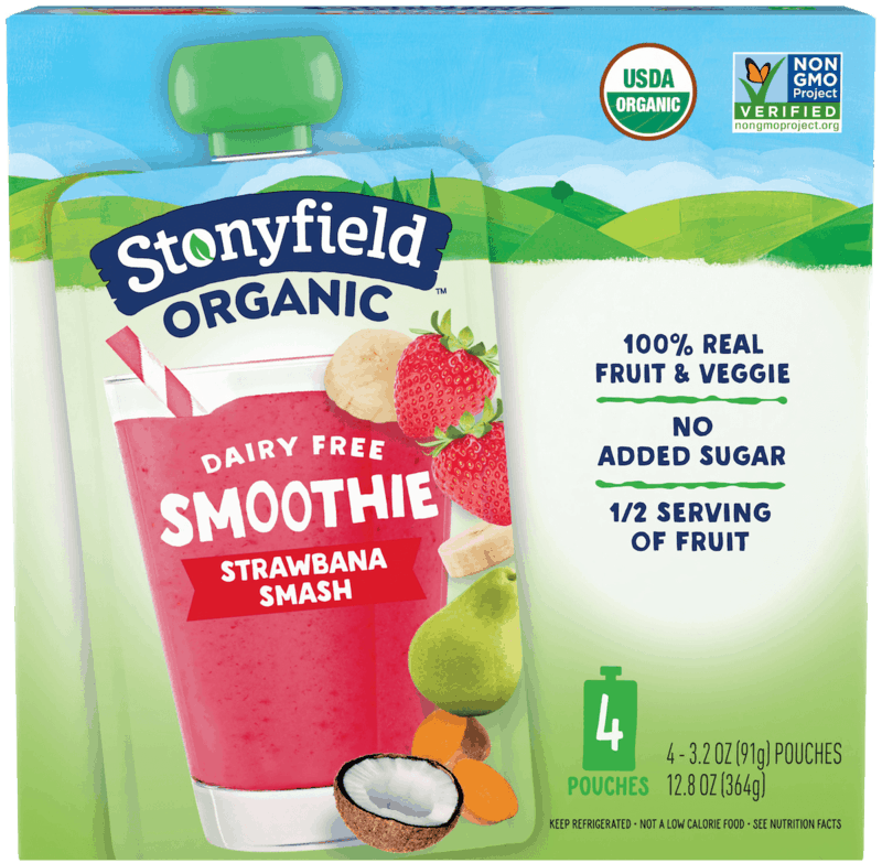 $1.00 for Stonyfield™ Organic Fruit & Veggie Smoothie Pouch Multipack (expiring on Sunday, 08/02/2020). Offer available at Target.