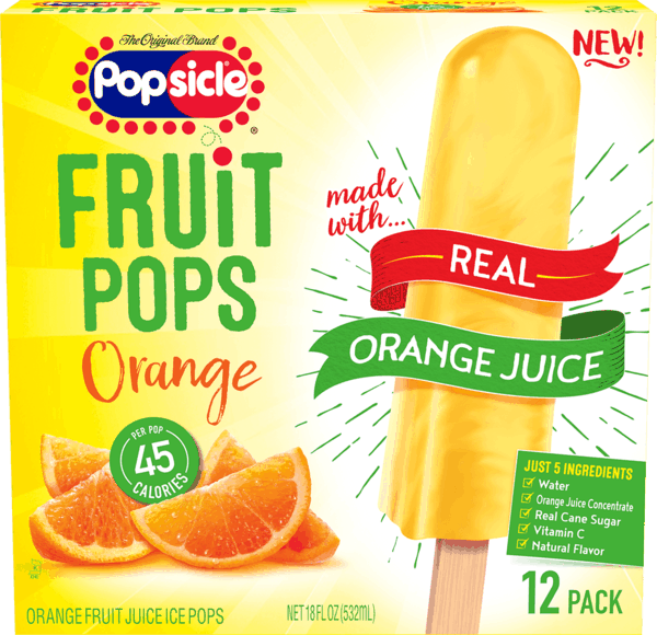 $1.00 for Popsicle® Fruit Pops Orange (expiring on Saturday, 03/02/2019). Offer available at multiple stores.