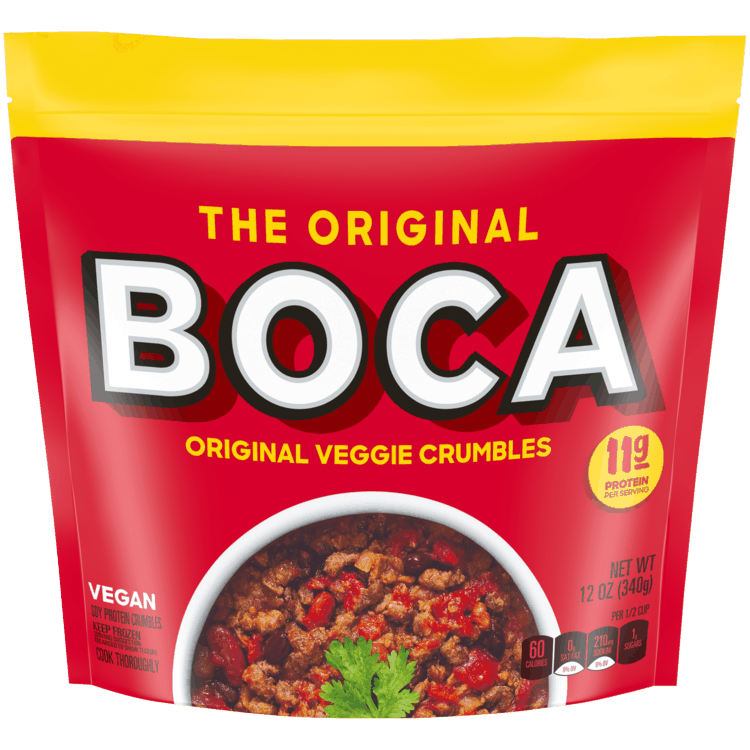$1.00 for BOCA Veggie Crumbles (expiring on Sunday, 08/02/2020). Offer available at multiple stores.