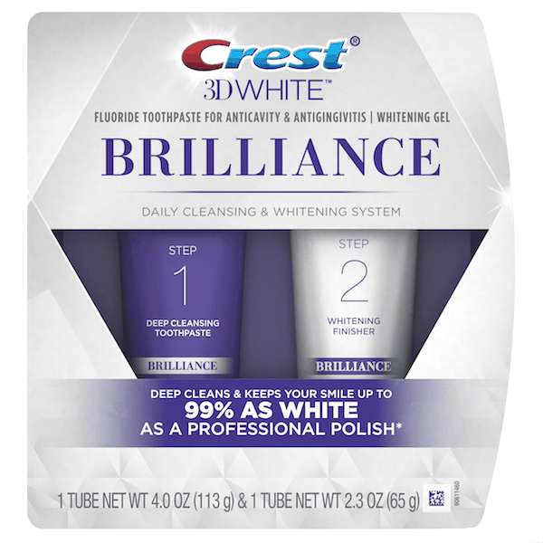 $1.00 for Crest® 3D White™ Brilliance 2 Step Toothpaste (expiring on Saturday, 06/30/2018). Offer available at multiple stores.