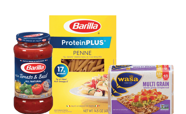 $1.00 for Barilla® Pasta, Barilla® Sauce, or Wasa® Crispbread (expiring on Friday, 07/07/2017). Offer available at Walmart.