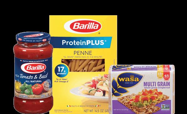$1.00 for Barilla® Pasta, Barilla® Sauce, or Wasa® Crispbread (expiring on Friday, 05/26/2017). Offer available at Walmart.