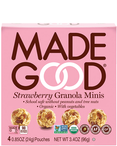 $1.00 for MadeGood® Granola Minis (expiring on Wednesday, 06/20/2018). Offer available at Fred Meyer, Dillons.