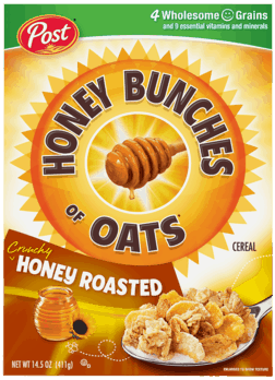 $0.75 for Honey Bunches of Oats® (expiring on Monday, 04/02/2018). Offer available at multiple stores.