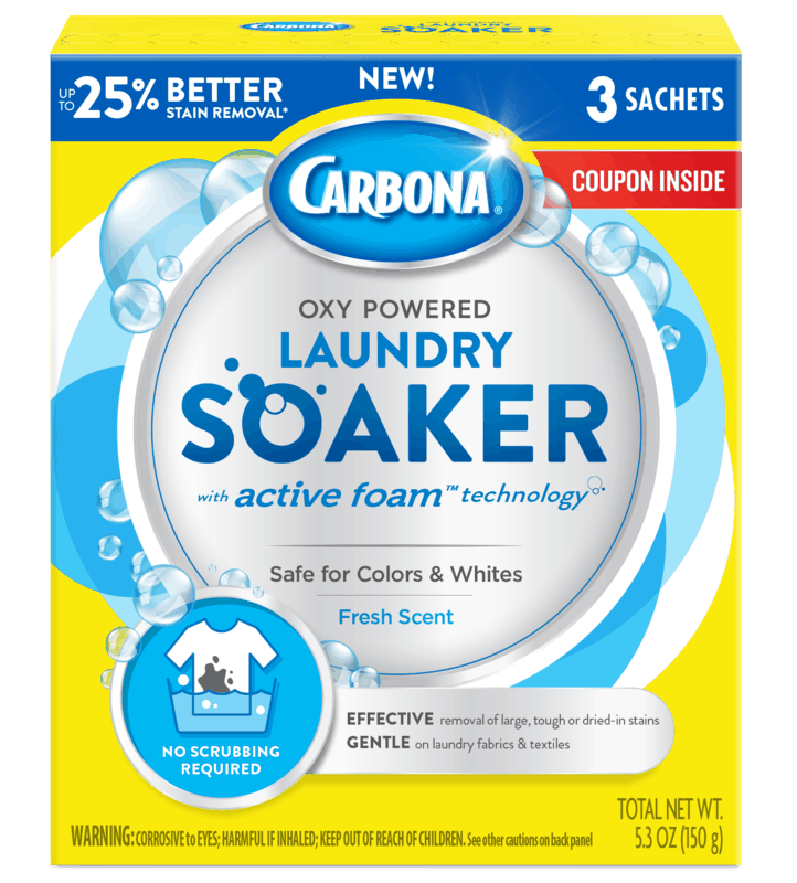 $1.00 for Carbona Laundry Soaker (expiring on Saturday, 10/31/2020). Offer available at multiple stores.