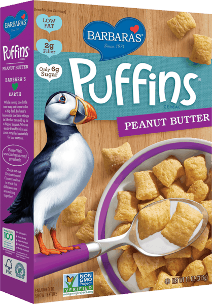 $1.00 for Barbara's® Puffins Cereal (expiring on Sunday, 06/02/2019). Offer available at multiple stores.