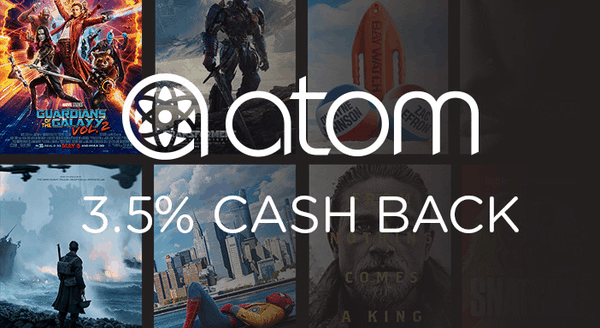 $0.00 for Atom Tickets (expiring on Friday, 05/03/2019). Offer available at Atom Tickets Purchase Path Test.