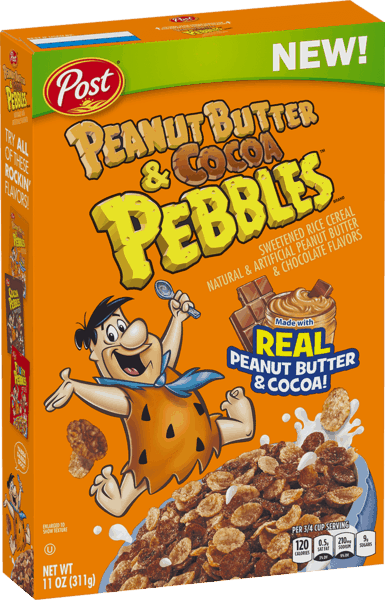 $1.00 for Post® Peanut Butter & Cocoa PEBBLES™ Cereal (expiring on Saturday, 02/02/2019). Offer available at multiple stores.