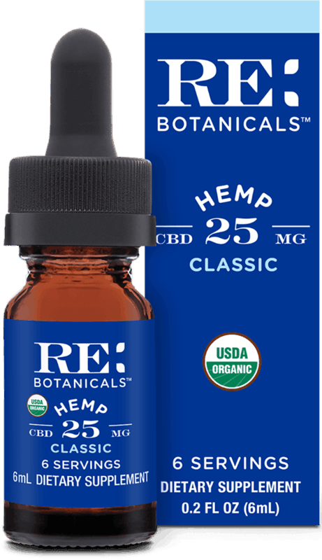 $2.00 for RE Botanicals 25mg CBD Hemp Oil Tincture (expiring on Friday, 07/31/2020). Offer available at Safeway, Vons, Pavilions, Albertsons, Dierbergs.
