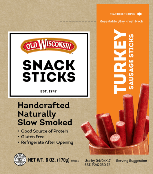 $0.50 for Old Wisconsin® Snack Sticks (expiring on Saturday, 06/02/2018). Offer available at multiple stores.