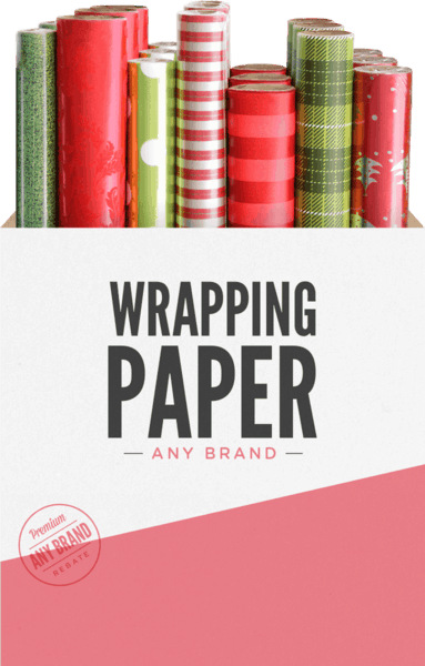 $0.25 for Wrapping Paper - Any Brand (expiring on Sunday, 12/31/2017). Offer available at multiple stores.