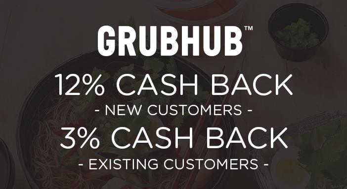 $0.00 for Grubhub (expiring on Sunday, 09/01/2019). Offer available at Grubhub.