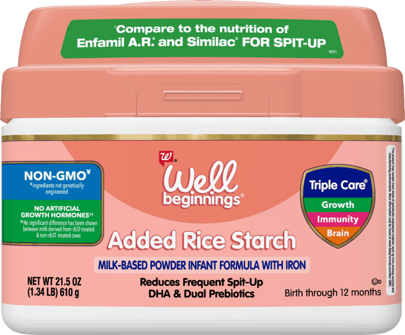$4.00 for Well Beginnings Added Rice Starch Infant Formula (expiring on Friday, 01/29/2021). Offer available at Walgreens.