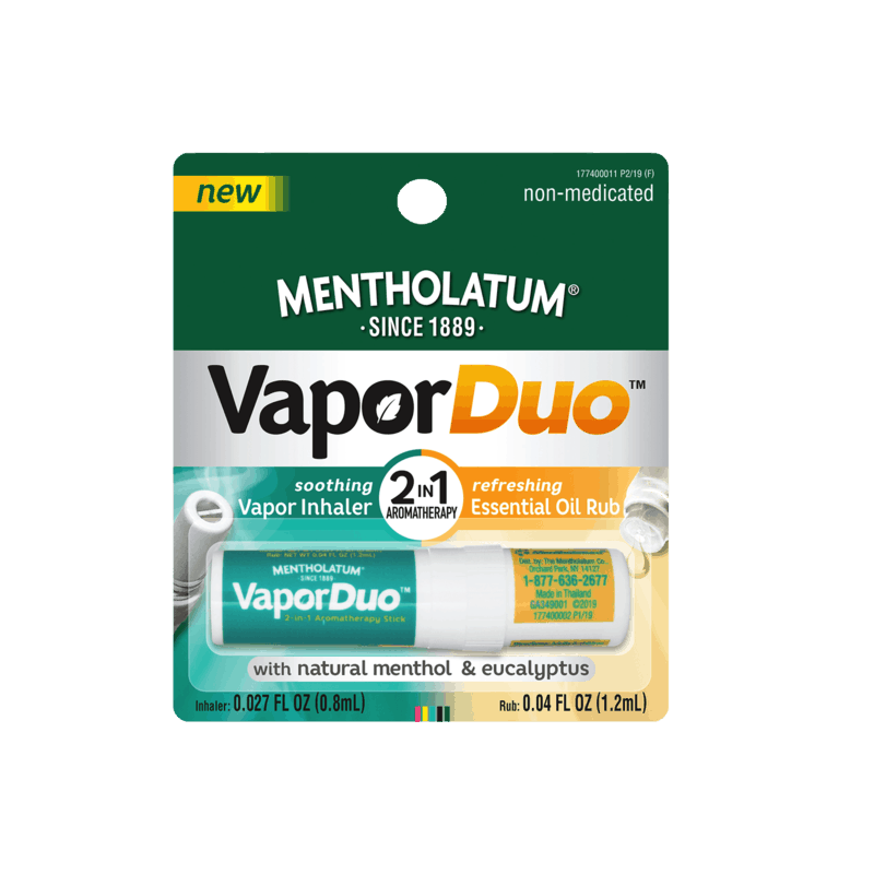 $1.00 for Mentholatum VaporDuo 2-in-1 Essential Oil Aromatherapy Stick (expiring on Sunday, 03/01/2020). Offer available at H-E-B, Big Y Foods, Raley's, Save Mart (Food Giant), Winn-Dixie.