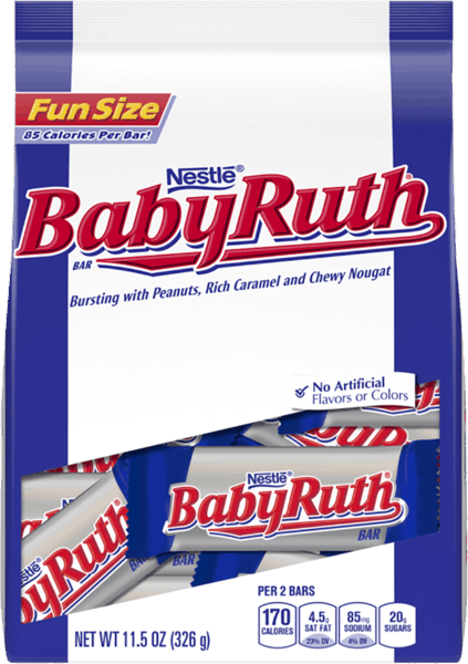 $1.00 for Baby Ruth Fun Size (expiring on Sunday, 12/02/2018). Offer available at Walmart.