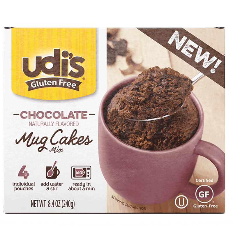 $1.30 for Udi's® Mug Cakes (expiring on Sunday, 02/02/2020). Offer available at Walmart.