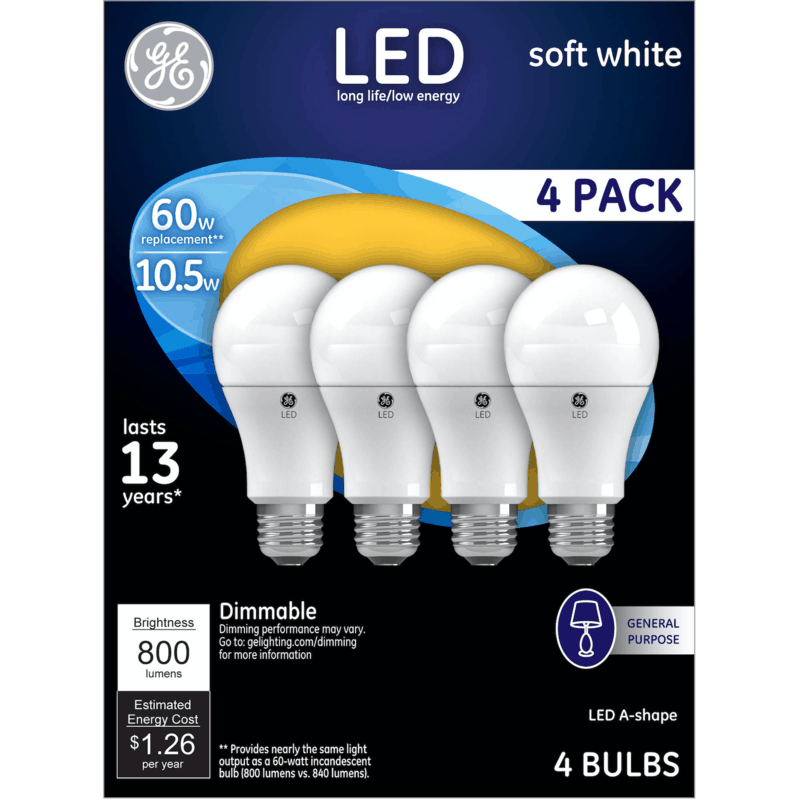 $1.00 for GE LED Light Bulbs. Offer available at multiple stores.