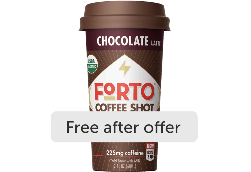 $1.98 for FORTO Coffee Shots (expiring on Monday, 05/31/2021). Offer available at Walmart, Walmart Pickup & Delivery.
