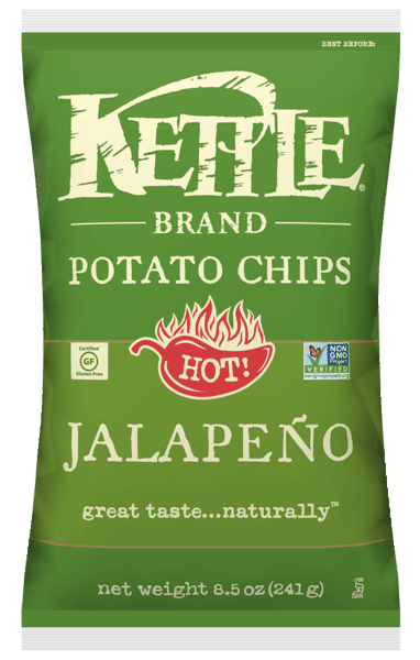 $1.00 for Kettle® Potato Chips (expiring on Saturday, 06/02/2018). Offer available at multiple stores.