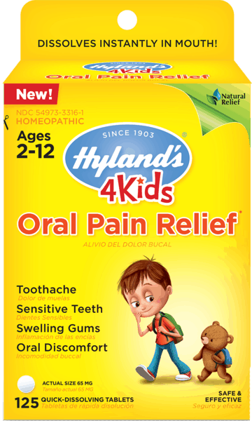 $1.00 for Hyland's® 4 Kids Oral Pain Relief Tablets (expiring on Saturday, 03/02/2019). Offer available at Walgreens, Rite Aid.