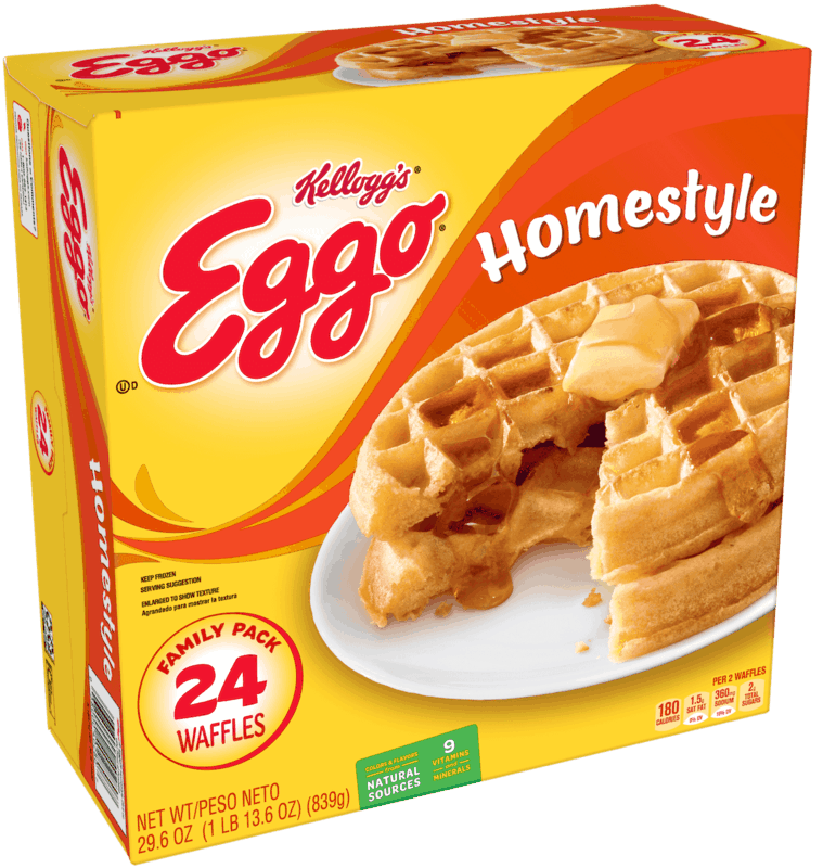 $0.50 for Eggo® 24 ct. Homestyle Waffles (expiring on Monday, 03/02/2020). Offer available at Walmart.