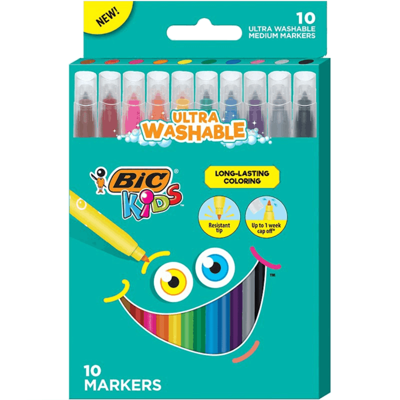 $1.00 for BIC Kids Long-Lasting Coloring Markers (expiring on Tuesday, 05/12/2020). Offer available at Walmart, Walmart Grocery.
