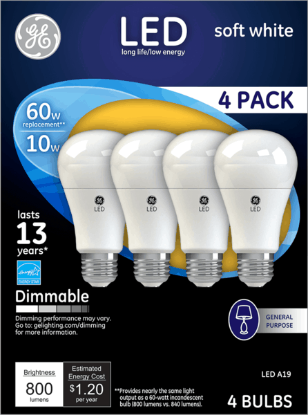 $1.00 for GE LED Light Bulbs (expiring on Sunday, 12/30/2018). Offer available at multiple stores.