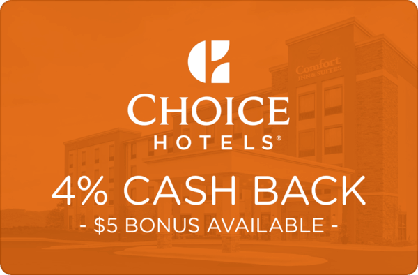 $0.00 for Choice Hotels (expiring on Monday, 04/01/2019). Offer available at Choice Hotels.