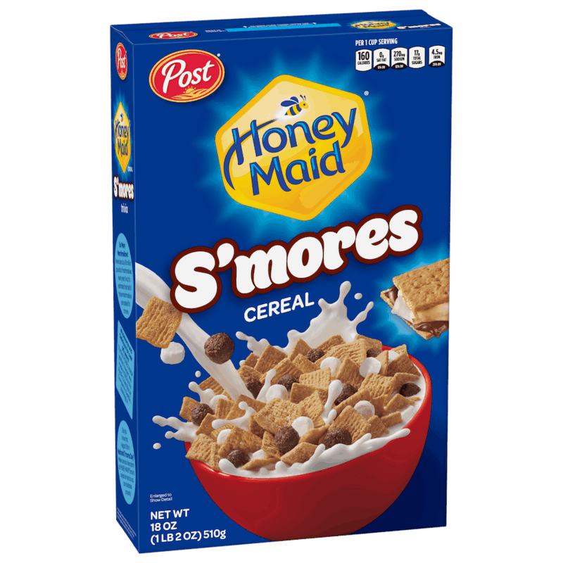 $0.50 for Post HONEY MAID S'mores Cereal (expiring on Friday, 02/26/2021). Offer available at multiple stores.