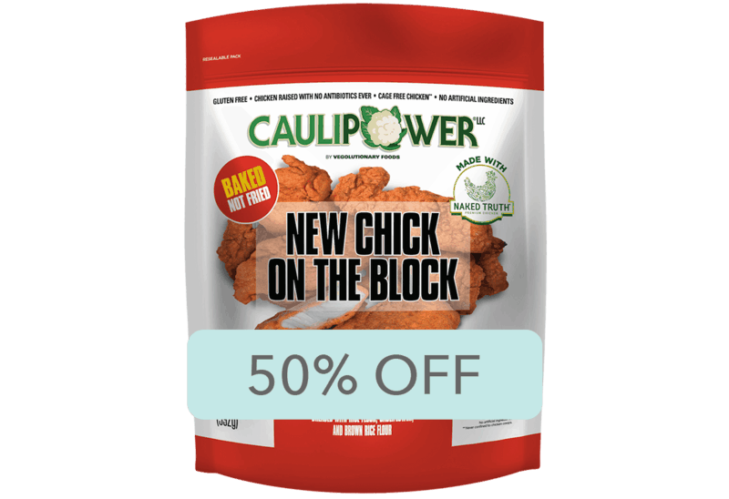 $4.00 for CAULIPOWER Chicken Tenders (expiring on Monday, 02/10/2020). Offer available at Walmart.