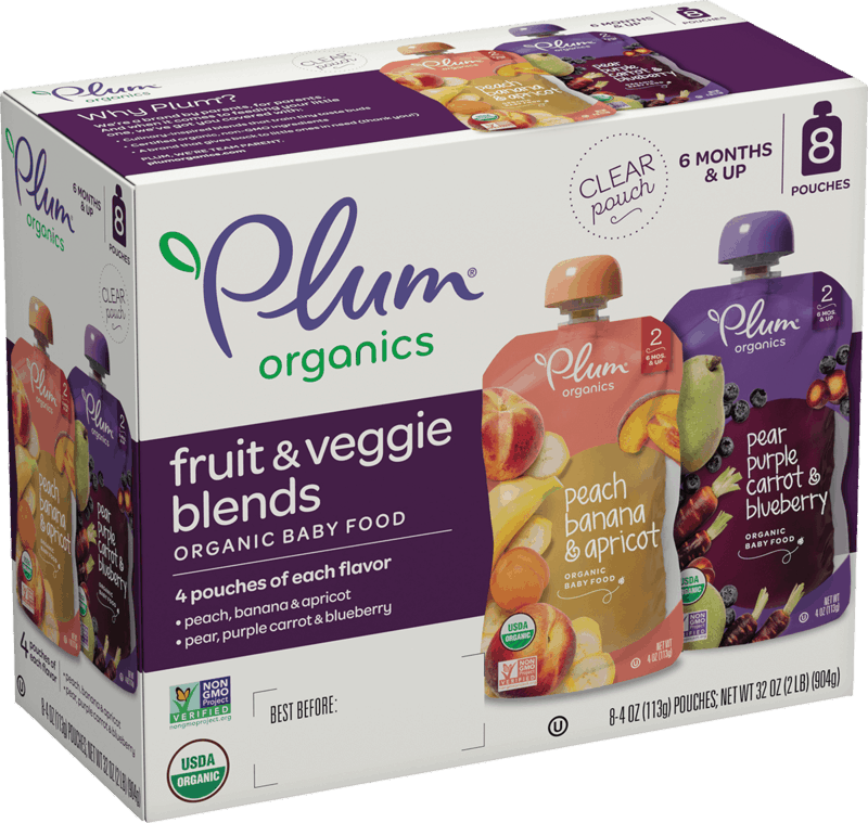 $2.50 for Plum Organics® Baby Food Pouches. Offer available at Walmart, Walmart Pickup & Delivery.