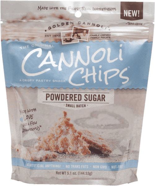 $0.25 for Golden Cannoli® Original Cannoli Chips (expiring on Sunday, 09/02/2018). Offer available at multiple stores.