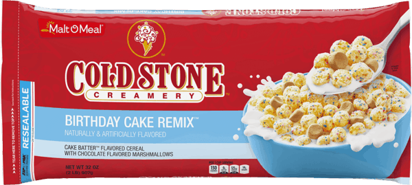 $0.50 for Malt-O-Meal® Cold Stone Creamery™ Birthday Cake Remix™ (expiring on Thursday, 01/24/2019). Offer available at WinCo Foods.