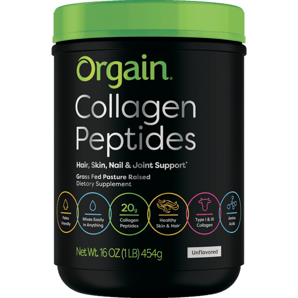 $5.00 for Orgain® Collagen Peptides Powder. Offer available at Walmart.