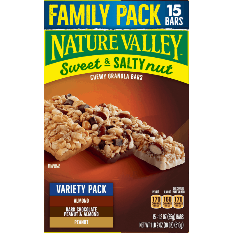 $0.50 for Nature Valley Granola Bars Family Pack (expiring on Tuesday, 04/14/2020). Offer available at Walmart, Walmart Grocery.