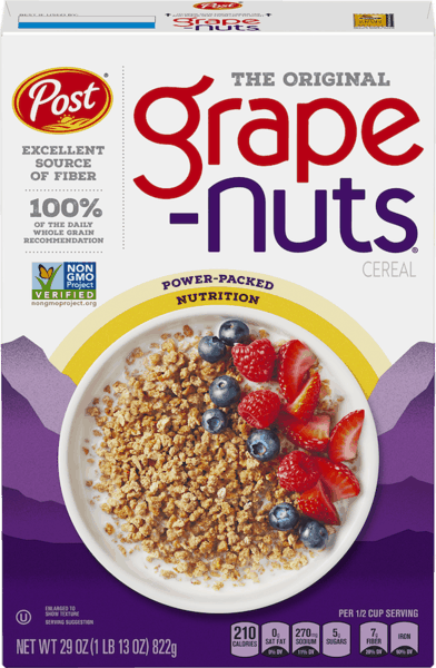 $0.50 for Grape Nuts® Cereal (expiring on Thursday, 03/07/2019). Offer available at WinCo Foods.