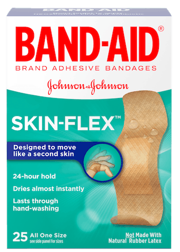 $1.00 for BAND-AID® Brand SKIN-FLEX™ Bandages (expiring on Tuesday, 08/21/2018). Offer available at Walmart.