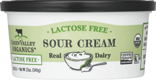 $0.75 for Green Valley Organics® Lactose Free Sour Cream (expiring on Wednesday, 08/01/2018). Offer available at multiple stores.