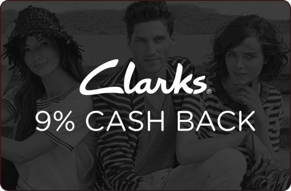 $0.00 for 9% cash back at Clarks USA (expiring on Friday, 04/13/2018). Offer available at Clarks.