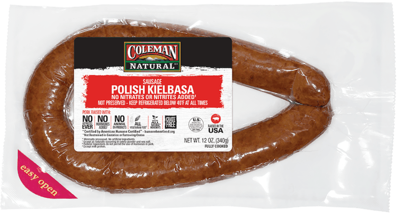 $1.25 for Coleman Natural Kielbasa. Offer available at ShopRite, Harris Teeter, Redner's Markets, Fresh Thyme.