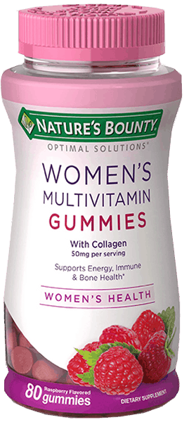 $0.75 for Nature's Bounty® Optimal Solutions® Women's Multivitamin Gummies. Offer available at Walmart.
