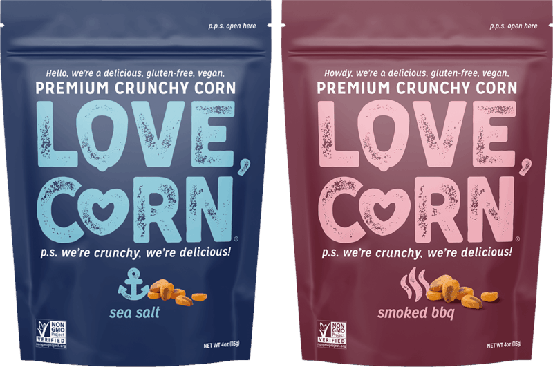 $0.50 for LOVE CORN Premium Crunchy Corn (expiring on Saturday, 01/01/2022). Offer available at multiple stores.